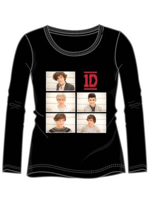 ONE DIRECTION T-SHIRT, langærmet sort